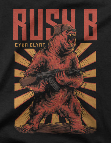 """Rush B Cyka Blyat"" Gaming Men's T-shirt"