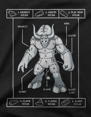 "GIXWEAR Men's T-Shirt ""Tauren Steak Guide"""