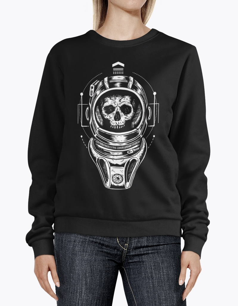 """Silence in the Library"" Women's Sweatshirt for Sci-Fi Fans"