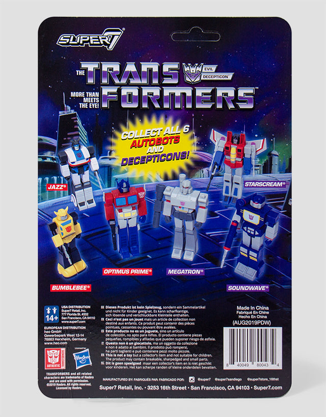 Super7 - Transformers ReAction Figure - Starscream