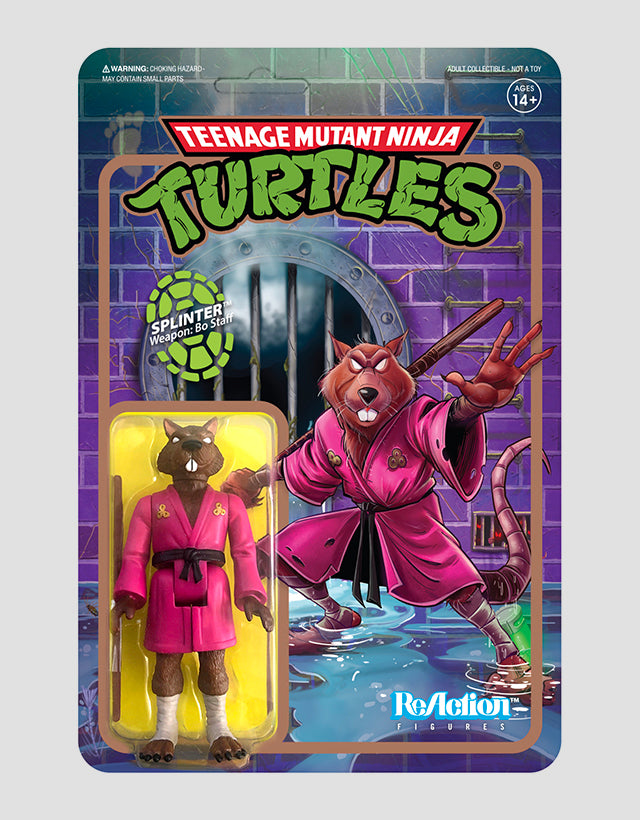 Super7 - Teenage Mutant Ninja Turtles ReAction Figure Wave 2 - Splinter