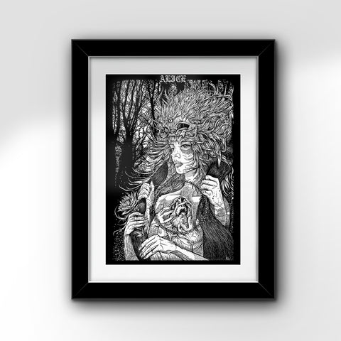 "The Gutter Queen (ALICE) - 24"" x 36"" Art Print"