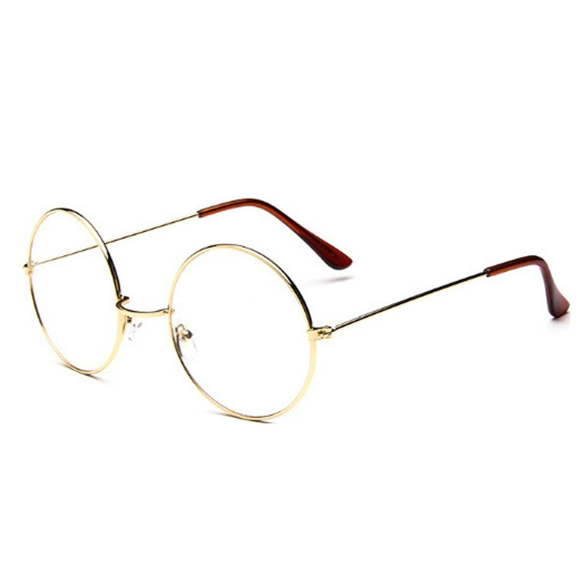 4ee788ce9 Women Men Large Oversized Metal Frame Clear Lens Round Circle Eye Glasses  ...