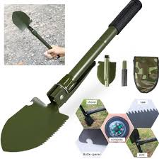 2 Color Military Shovel Multi-Functional Emergency Tool Folding Camping Shovels