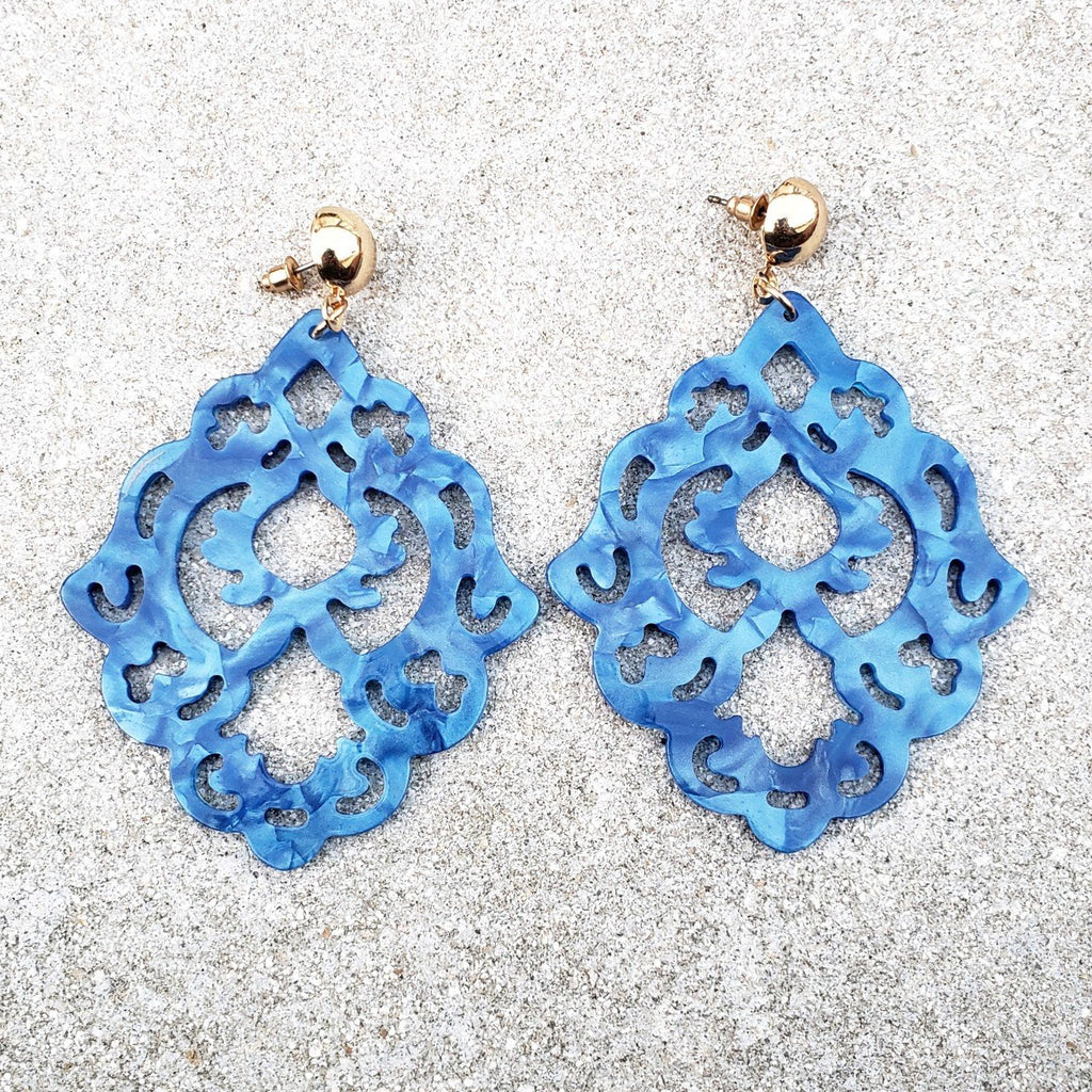 Kaya Blue Drop Earrings