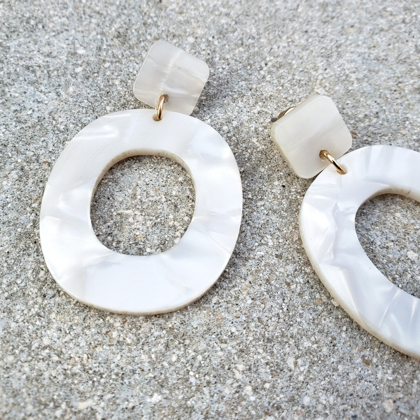 Lana White Drop Earrings