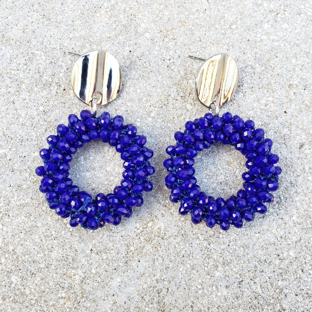Maia Blue Drop Earrings