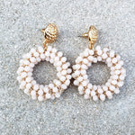 Maia Pink Drop Earrings