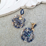 Nia Blue Multi Drop Earrings