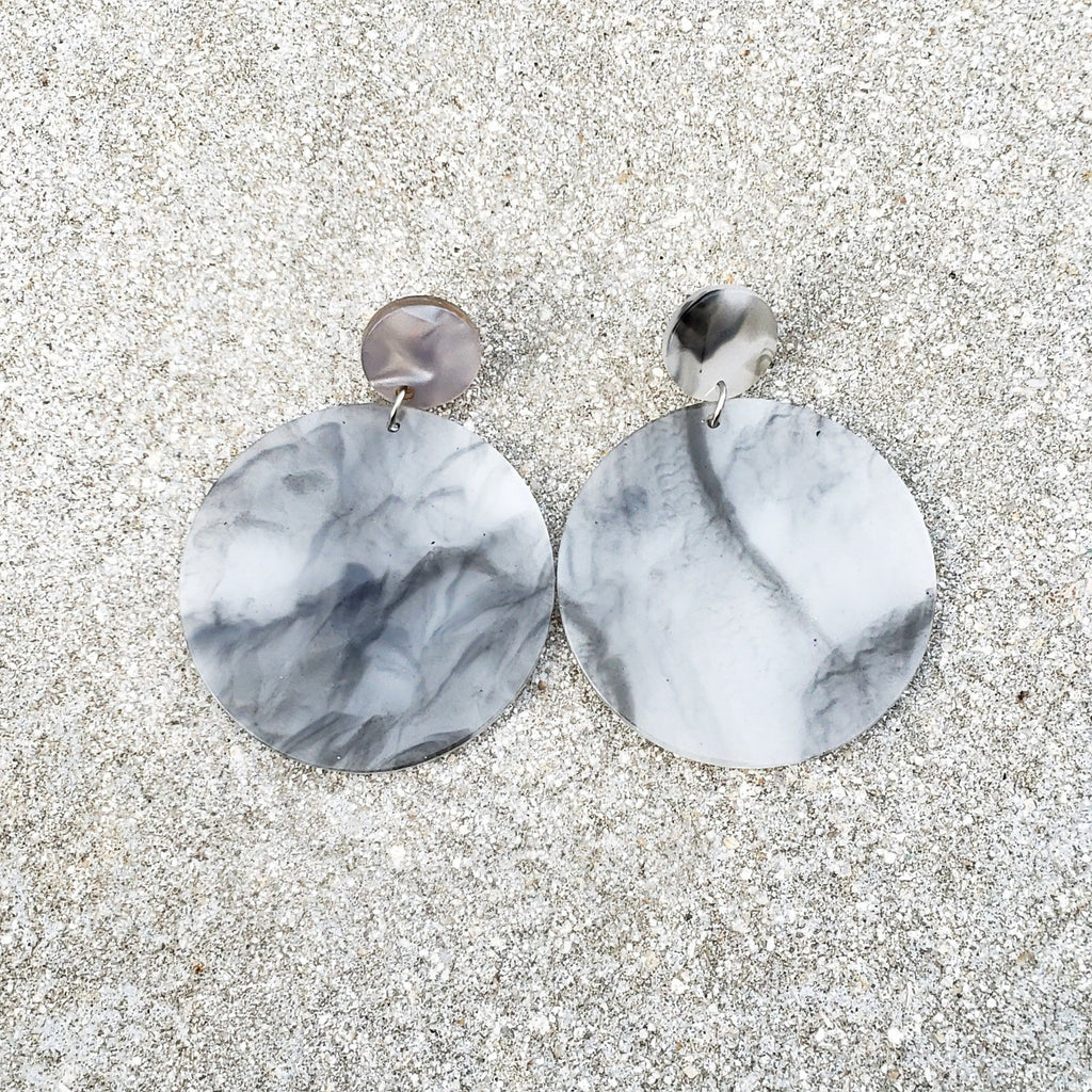 Parker Grey Statement Earrings