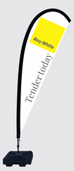 Raywhite Large Teardrop Flags Real estate Flags