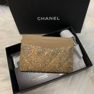 Gold Chanel Ombre Card Holder