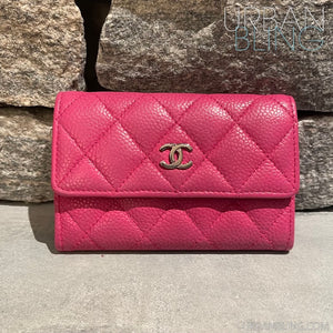 Hot Pink Chanel Coin Holder Strassed