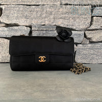 Satin Chanel Mini Camellia Bag Strassed