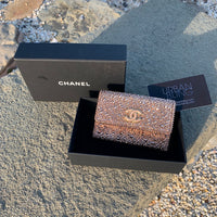 Metallic Chanel Coin Holder Strassed