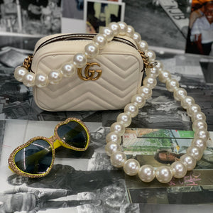 Large Pearl Long Bag Strap