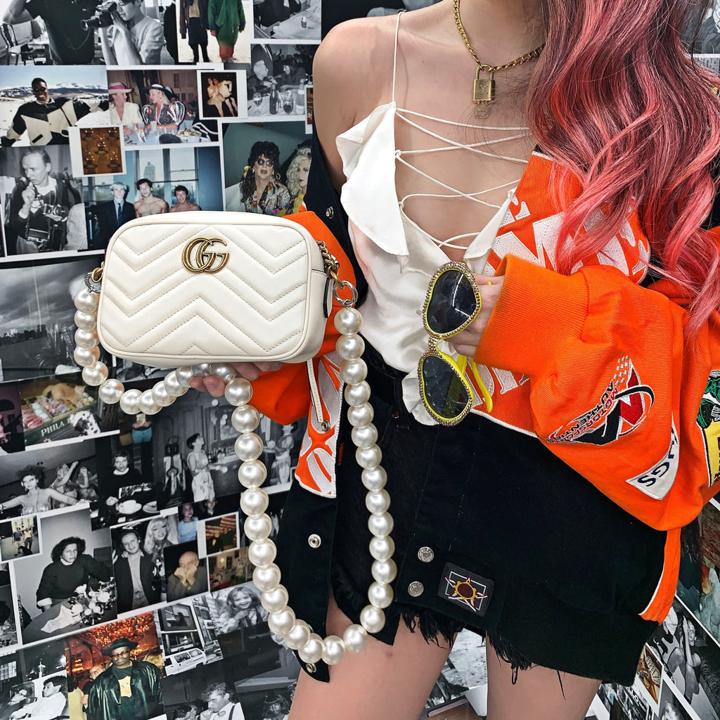 Large Pearl Long Bag Strap *preorder*