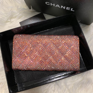 Pink Chevron Chanel Wallet