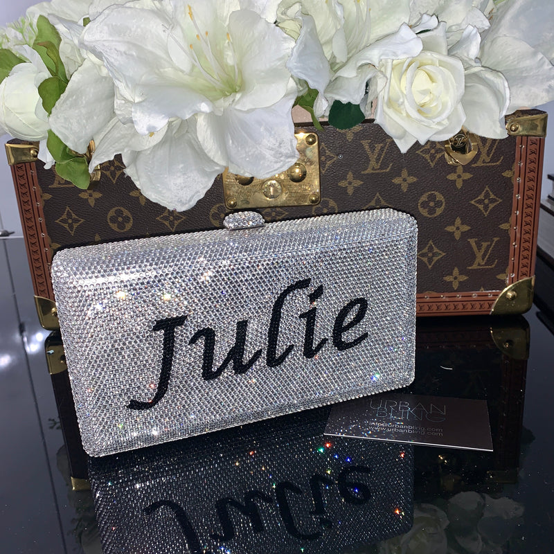 Custom Personalized Crystal Clutch