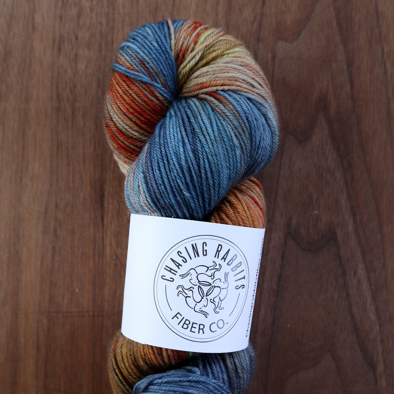 Chasing Rabbits SW Merino Wool Blue Crab
