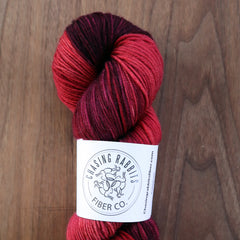 Chasing Rabbits SW Merino Wool Red On Maroon