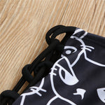 Black & What Cat Bikini