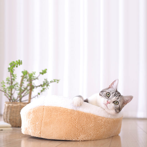Warm Hamburger Cat Bed