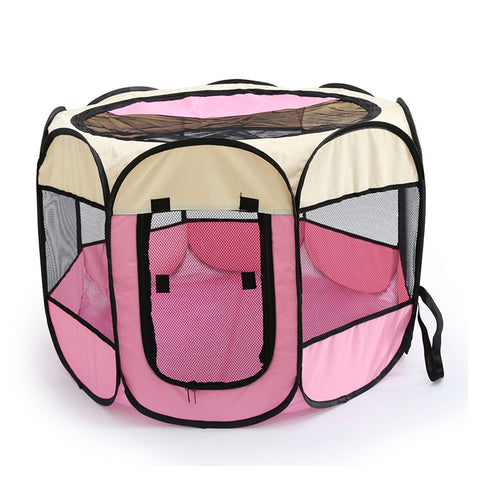 This portable dog or cat kennel is perfect for travelling and house training.