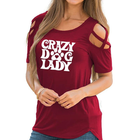 Crazy Dog Lady T-shirt