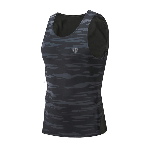 Man Workout Fitness Sports Gym Running Yoga Athletic Shirt - 33Blue