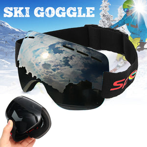 Dual-layer Lens Snowboard Glasses Skiing Goggles - 33Blue