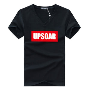 Upsoar Print Short Sleeve T-shirt - 33Blue