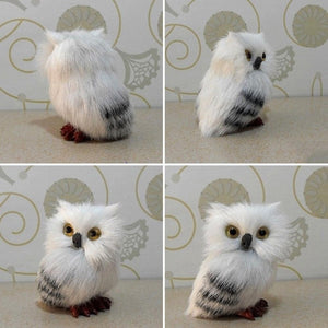 Owl Simulation Model Doll Toys Furnishing Articles - 33Blue
