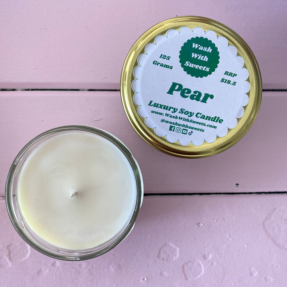 Pear ~ Scented Soy Wax Jar Candle ~ Rustic Range