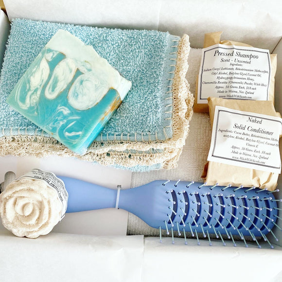 Blue (mostly) unscented Gift Set