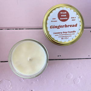 Gingerbread ~ Scented Soy Wax Jar Candle ~ Rustic Range