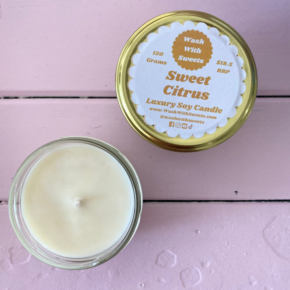 Sweet Citrus ~ Scented Soy Wax Jar Candle ~ Rustic Range