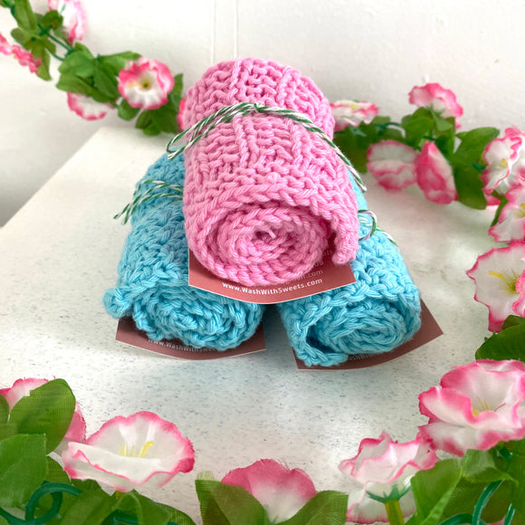 Knitted 100% Cotton Face Cloth