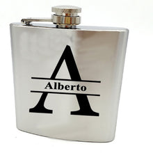 Load image into Gallery viewer, Bride or Groomsman gift for wedding --Personalized  hip flask with black box