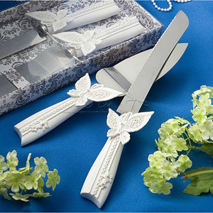 Qianxiaozhen Butterfly Wedding Cake Knife Serving Set Wedding Decoration Wedding Supplies All For Wedding