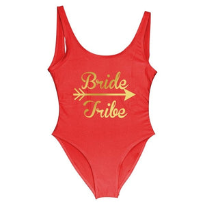 Bride Tribe Women One Piece Swimsuit