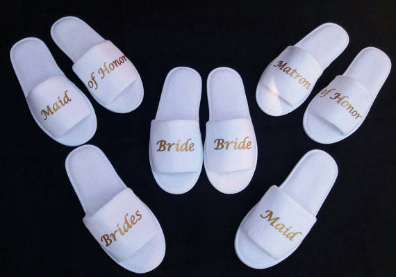 glitter Birthday Wedding Bridesmaid Bridal Bride Slippers groomsman Hens Night Bachelorette Spa Slippers party favors gifts