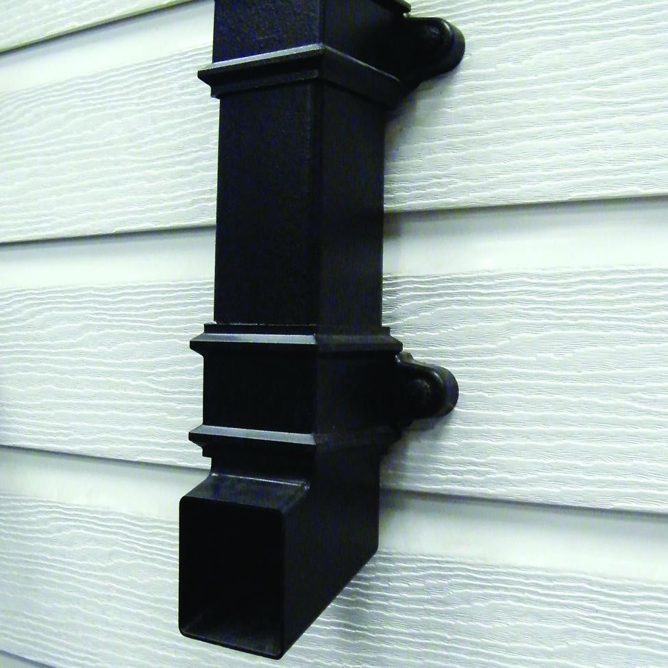 CAST IRON EFFECT SQUARE DOWNPIPES & FITTINGS (65mm)