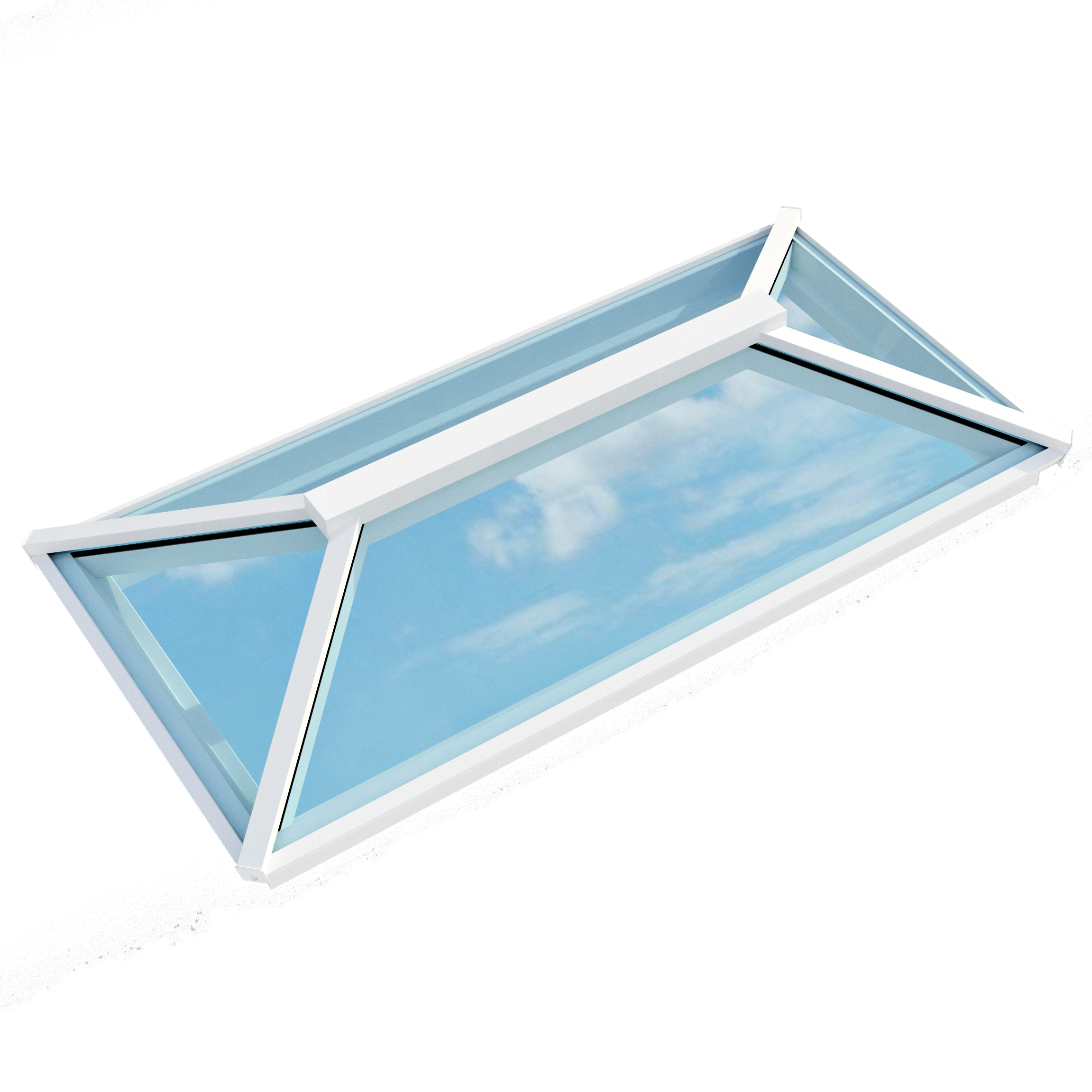 Contemporary Roof Lantern (1000mm x 2000mm | White) - Horizon Plastics Online