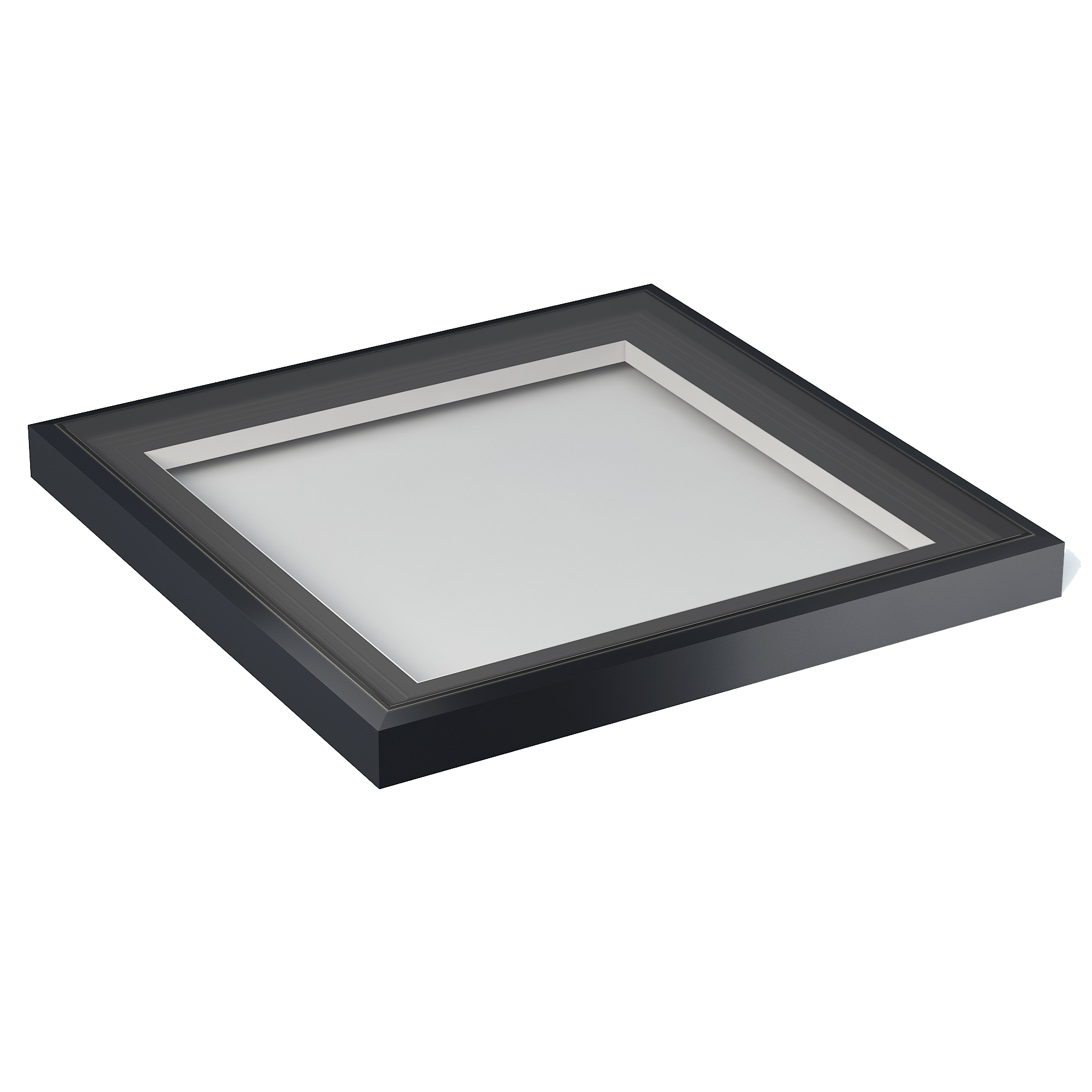 Flat Rooflights (1000mm x 1000mm | Anthracite Grey on White)