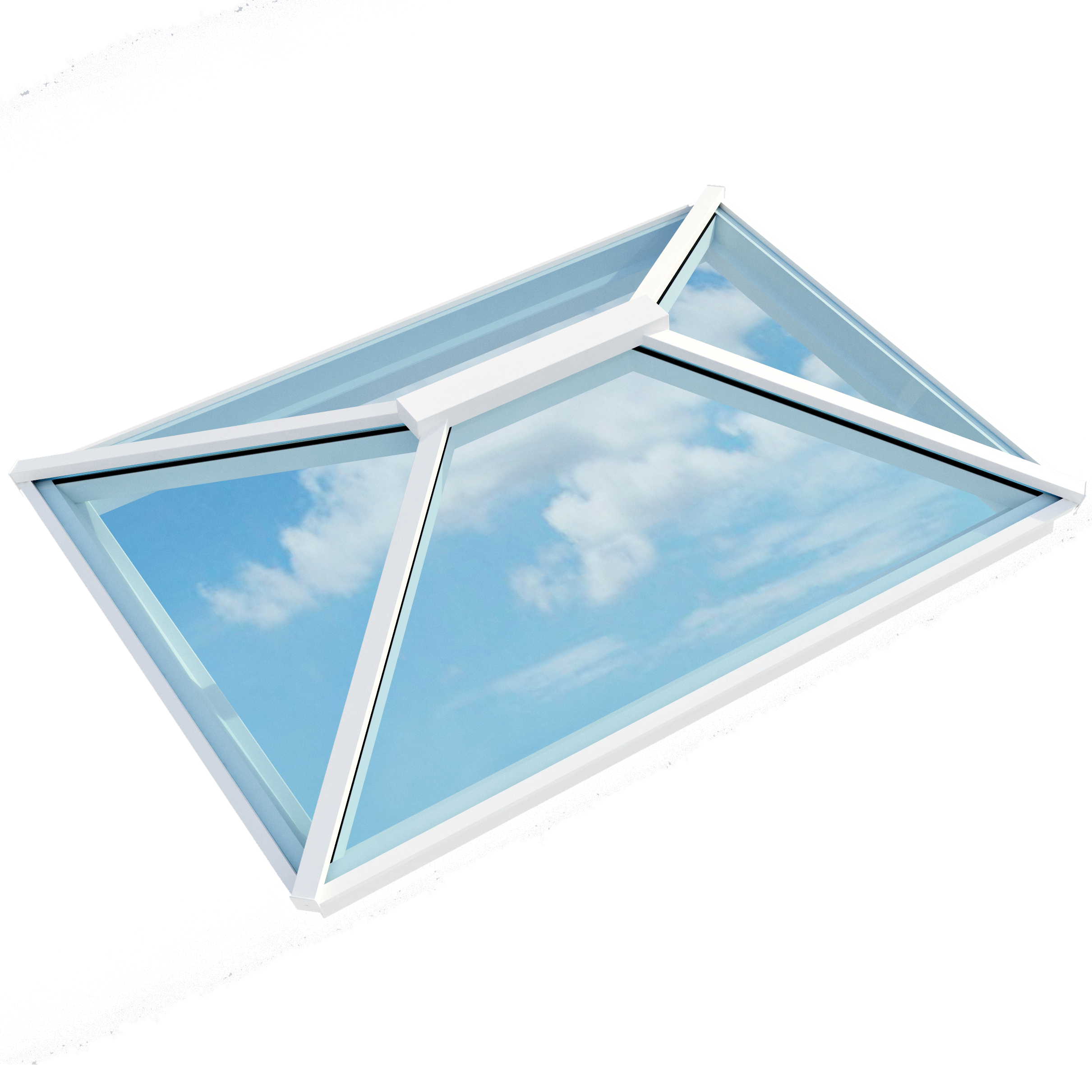 Contemporary Roof Lantern (1500mm x 2000mm | White) - Horizon Plastics Online