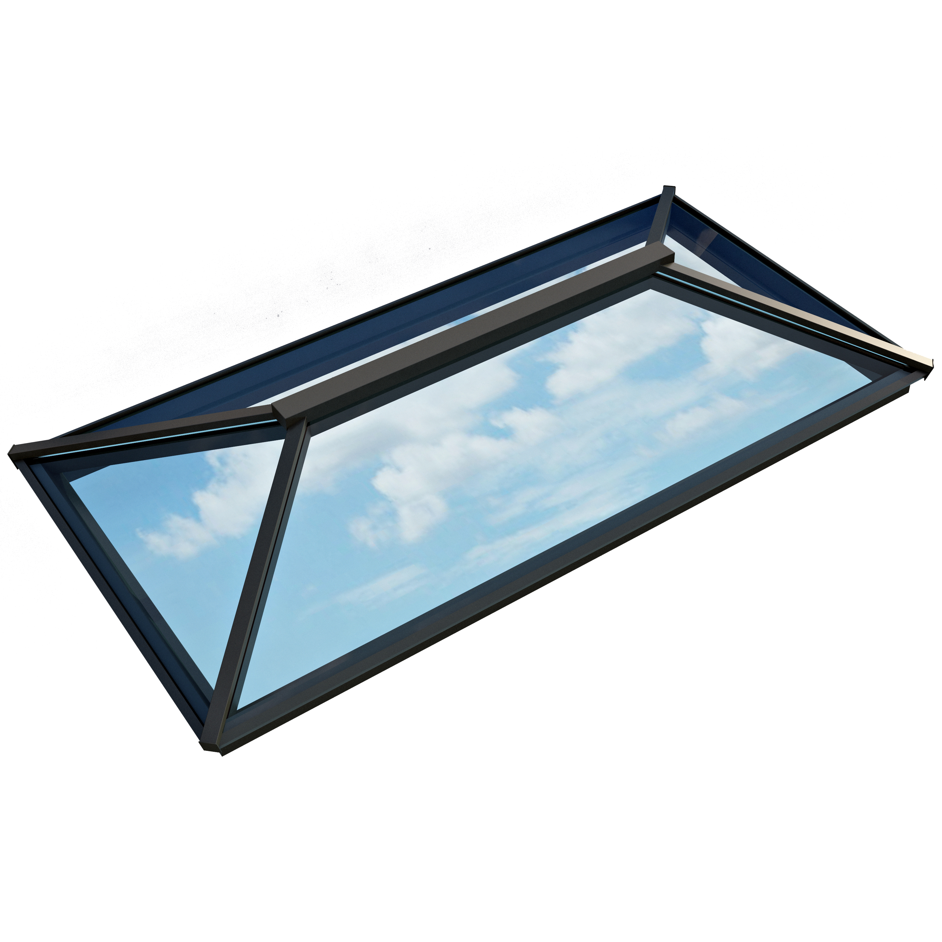 Contemporary Roof Lantern (1500mm x 3000mm | Anthracite Grey) - Horizon Plastics Online