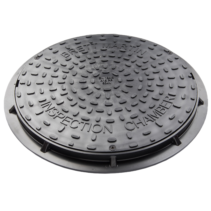 450mm Diameter Secured Plastic Cover For Driveways (Black)