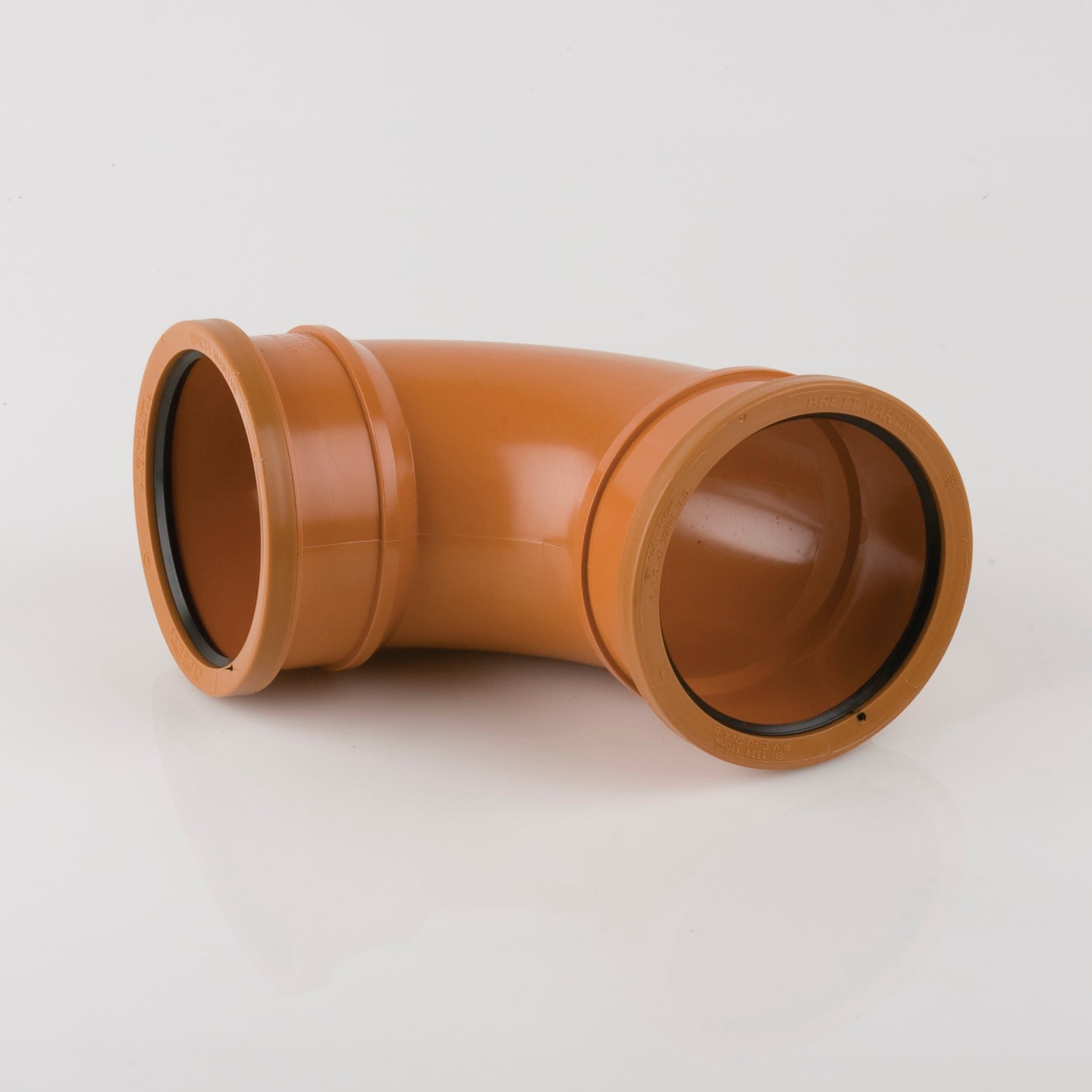 87.5 Degrees 110mm Double Socket Pipe Bend (Terracotta Orange)