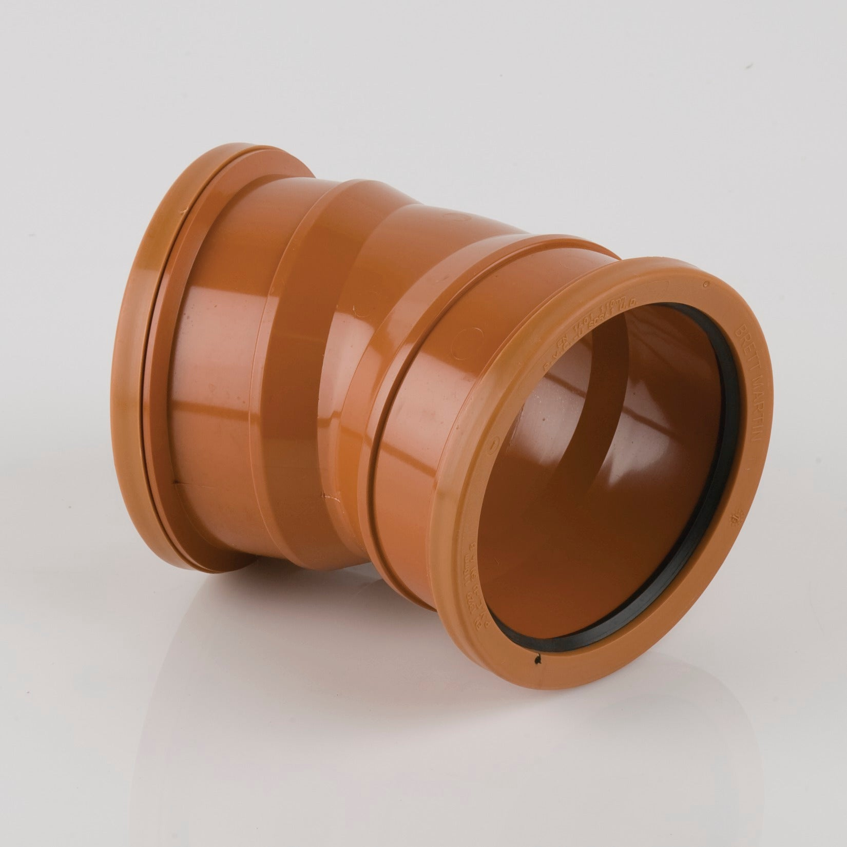 22.5 Degrees 110mm Double Socket Pipe Bend (Terracotta Orange)